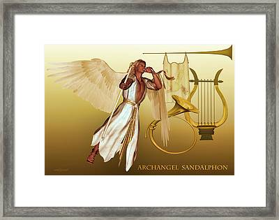 Framed Print featuring the digital art Archangel Sandalphon by Valerie Anne Kelly
