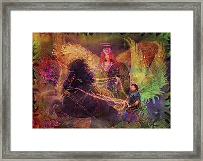 Archangels Ariel And Metatron Framed Print by Steve Roberts