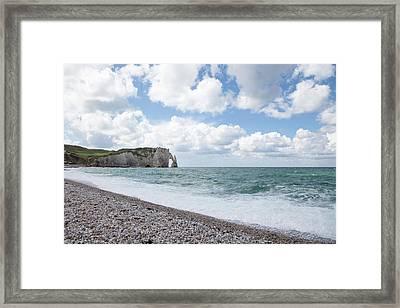 Arch At Etretat Beach, Normandie Framed Print by Yoel Koskas
