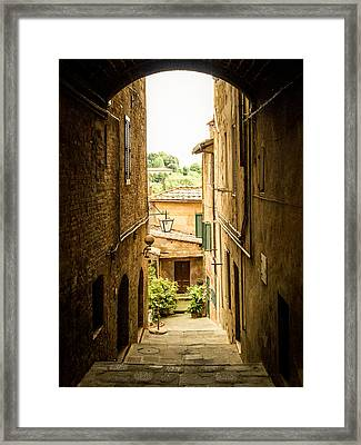 Arched Alley Framed Print