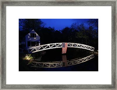 Arched Bridge In Somesville Maine Framed Print by Juergen Roth