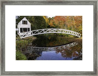 Arched Bridge-somesville Maine Framed Print