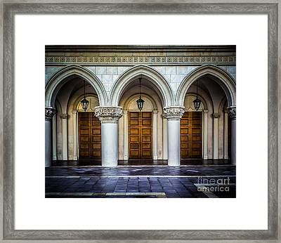 Arched Door Framed Print by Perry Webster