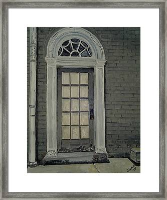 Arched Doorway Federal Hill Framed Print by John Schuller