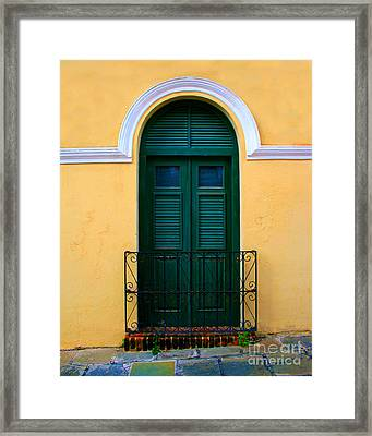 Arched Doorway Framed Print by Perry Webster