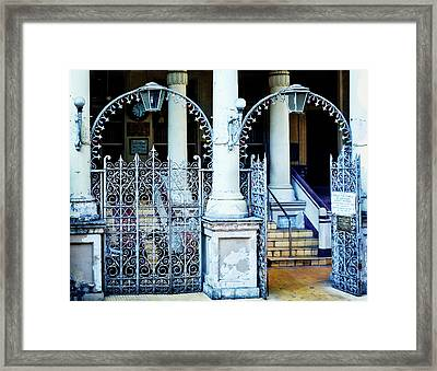 Arched Entrance In Mumbai Framed Print by Marion McCristall