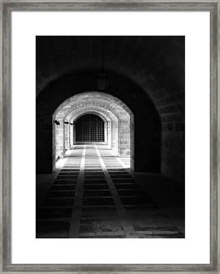 Arched Hallway In Palma Framed Print