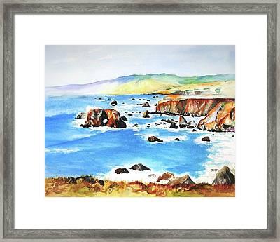 Arched Rock Sonoma Coast California Framed Print