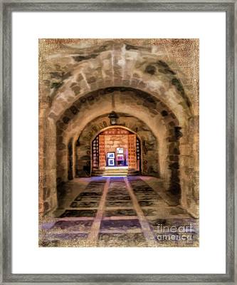 Arched View Framed Print by Gillian Singleton