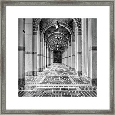 Arched Walkway Framed Print