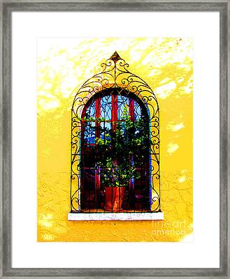 Arched Window By Darian Day Framed Print by Mexicolors Art Photography