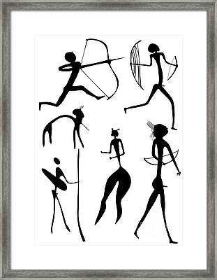 Archer And Other Figures Framed Print