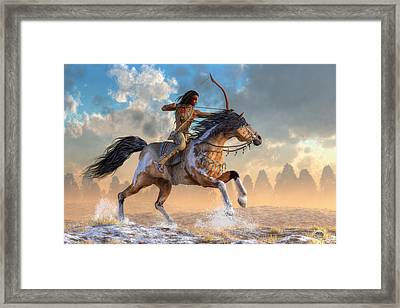 Archer On Horseback Framed Print by Daniel Eskridge