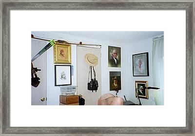 Archery And Art And Camera And Historypart Of My Studio Framed Print by Mahto Hogue