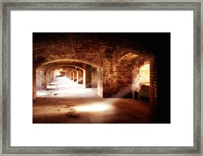 Arches And Beaming Light  Framed Print by George Oze