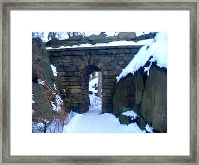 Arches And Bridges - Central Park Nyc Framed Print