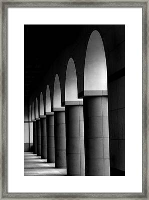 Arches And Columns 1 Framed Print by John Gusky