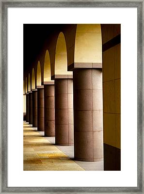 Arches And Columns 2 Framed Print by John Gusky