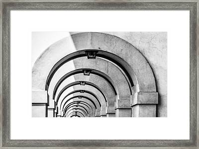 Arches At The Arno Framed Print