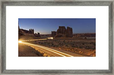 Arches Evening Exit Framed Print