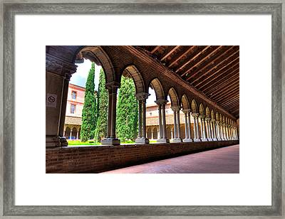 Arches Insde Eglise Des Jacobins Or Church Of The Jacobins Framed Print