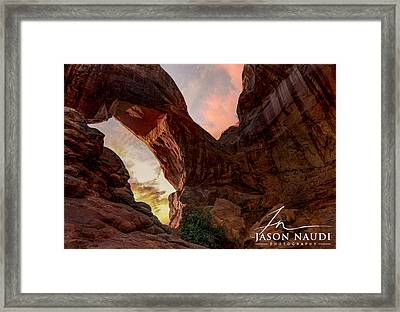 Framed Print featuring the photograph Arches by Jason Naudi