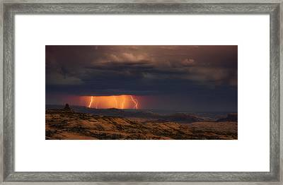 Arches Light Show Framed Print by Darren White