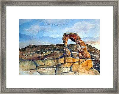 Arches National Park Framed Print by Debbie Lewis