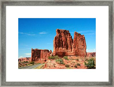 Arches National Park From A Utah Highway Framed Print