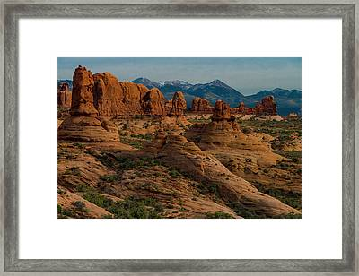 Framed Print featuring the photograph Arches National Park by Gary Lengyel