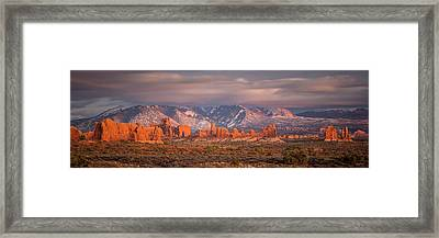 Arches National Park Pano Framed Print