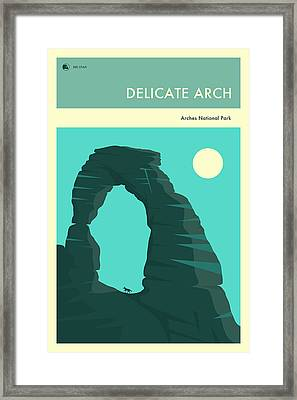 Arches National Park Poster Framed Print by Jazzberry Blue