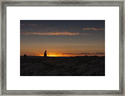 Arches National Park Sunset Framed Print