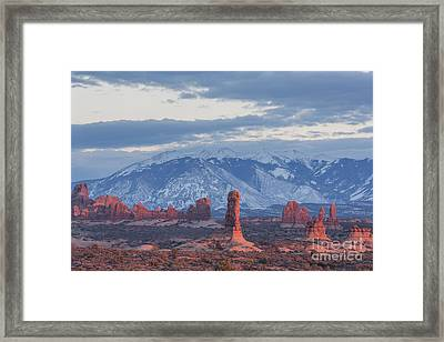 Arches National Park, Sunset Framed Print