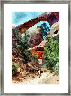 Arches National Park Trail Framed Print