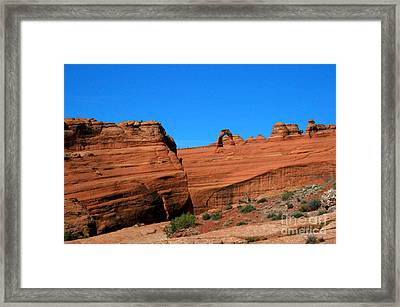 Arches National Park, Utah Usa - Delicate Arch Framed Print