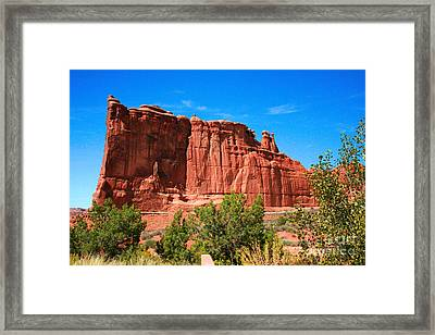 Arches National Park, Utah Usa - Tower Of Babel, Courthouse Tower Framed Print