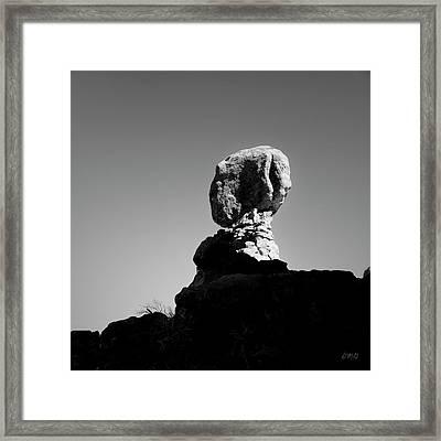 Arches Np Xvii Bw Sq Framed Print by David Gordon