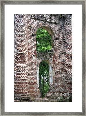 Arches Of Old Sheldon Church Ruins Framed Print
