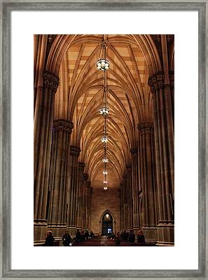 Framed Print featuring the photograph Arches Of St. Patrick's Cathedral by Jessica Jenney