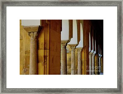 Arches Of The Patio De Los Naranjos In The Cathedral Of Cordoba Framed Print by Sami Sarkis