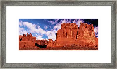 Framed Print featuring the photograph Arches Pano by Norman Hall
