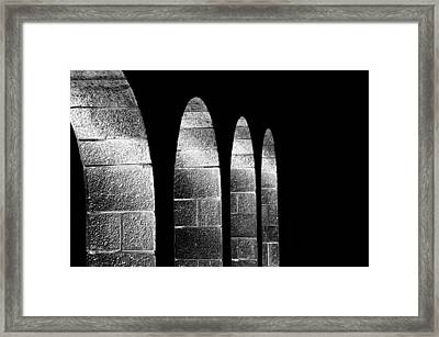 Arches Per Israel - Black And White Framed Print by Deb Cohen
