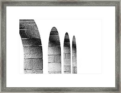 Arches Per Israel - White And Black Framed Print by Deb Cohen