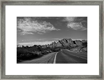 Arches Road Framed Print