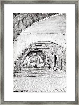 Arches Sauveterre France Framed Print by Vincent Alexander Booth