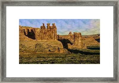 Arches Sunrise Framed Print