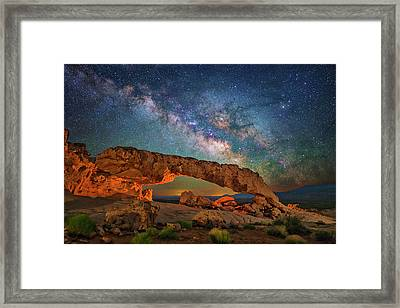 Arching Over The Arch Framed Print