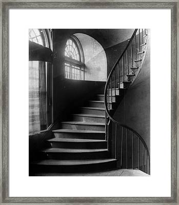 Arching Stairwell Framed Print