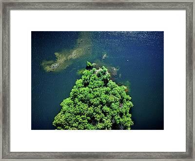 Archipelago Island - Aerial Photography Framed Print